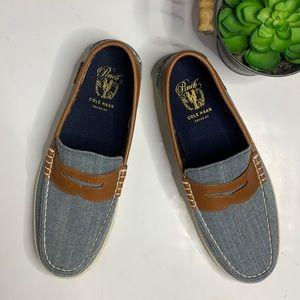 COLE HAAN Men's Canvas Pinch Weekender Loafer SZ 8